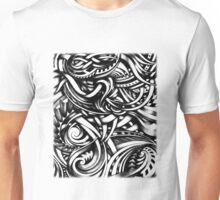 Escher Like Hand Drawn Artistic Grey Depth Zen Doodle Unisex T-Shirt