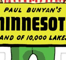 Minnesota Paul Bunyan Vintage Travel Decal Sticker