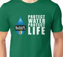 NoDAPL   Protect Water, Protect Life   V.1 Unisex T-Shirt