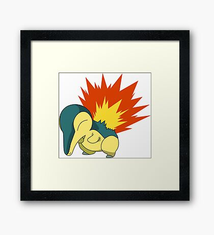 Cyndaquil - Second Gen Fire Starter Pokemon Framed Print