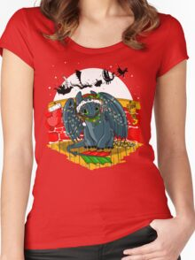 Night Fury Before Christmas Women's Fitted Scoop T-Shirt