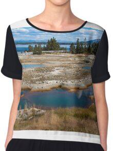 West Thumb Geyser Basin, Yellowstone Chiffon Top
