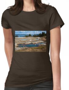 West Thumb Geyser Basin, Yellowstone Womens Fitted T-Shirt
