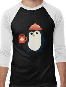 Penguin the Cute Penguin Winter Adorable Animal Men's Baseball ¾ T-Shirt