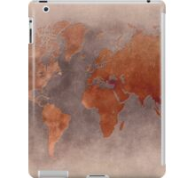 World map brown iPad Case/Skin