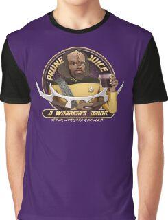 Star Trek TNG Worf Prune Juice Enterprise Graphic T-Shirt