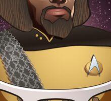 Star Trek TNG Worf Prune Juice Enterprise Sticker