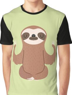 Sloth doing yoga Graphic T-Shirt