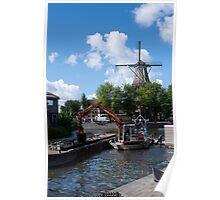 De Gooyer Windmill Amsterdam Poster