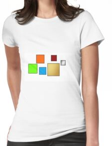 squared colours Womens Fitted T-Shirt