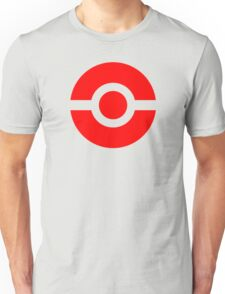 Pokeball Icon Red Unisex T-Shirt