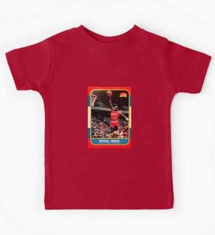 Michael Jordan Chicago Bulls NBA Basketball Rookie Card Kids Tee
