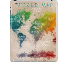 world map 14 iPad Case/Skin