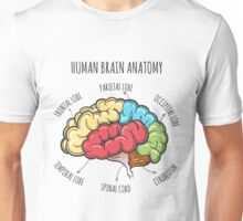 Human Brain Anatomy Sketch Unisex T-Shirt