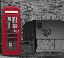 old fashioned telephone box by markm1892