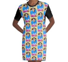 OJ Simpson Rookie Card Graphic T-Shirt Dress