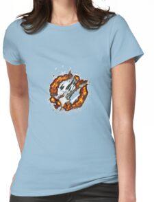 Brennende E-Gitarre Womens Fitted T-Shirt