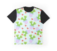 Cute cactus with red hearts.  Graphic T-Shirt