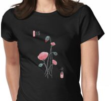 Poppy Flower Happiness Womens Fitted T-Shirt