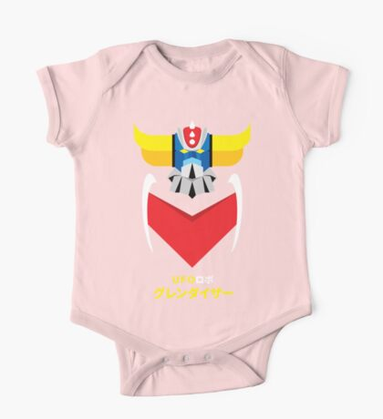 Grendizer - Color and japanese writing One Piece - Short Sleeve