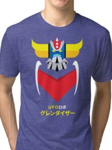 Grendizer - Color and japanese writing Tri-blend T-Shirt