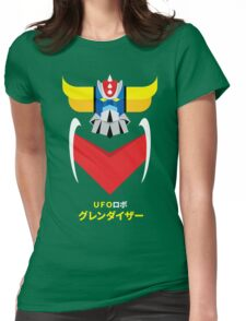 Grendizer - Color and japanese writing Womens Fitted T-Shirt