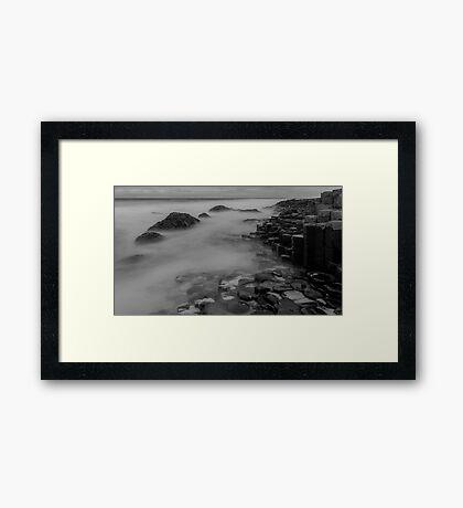 Causeway stones Framed Print