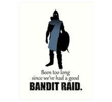 Skyrim Guard - Bandit Raid Art Print