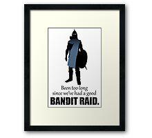 Skyrim Guard - Bandit Raid Framed Print