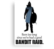 Skyrim Guard - Bandit Raid Canvas Print