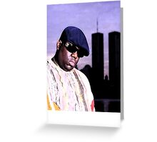 The Notorious BIG World Trade Center Biggie Smalls Twin Towers Greeting Card