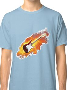 Brennende Elektro Gitarre Classic T-Shirt