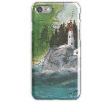 Pt Atkinson Lighthouse BC Canada Nautical Map Cathy Peek iPhone Case/Skin