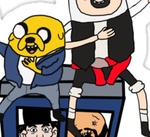 Finn and Jakes Excellent Adventure Time Sticker