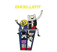 Finn and Jakes Excellent Adventure Time Photographic Print