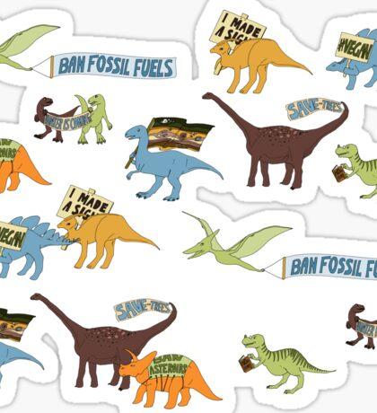 Dino Activists Sticker