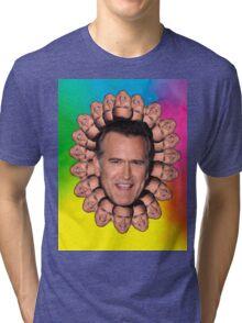 Bruce Campbell Chins can kill Tri-blend T-Shirt