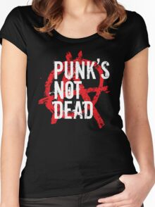 Punk's not dead Women's Fitted Scoop T-Shirt