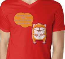 Harry the Hamster - Round is a Shape Mens V-Neck T-Shirt