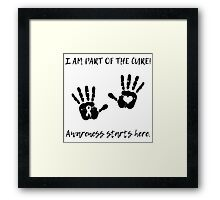 Handprints - Black Framed Print