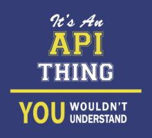 It's An API thing, you wouldn't understand !! by satro