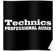 Technics (white) Poster