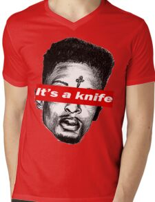"21 Savage ""it's a knife"" Supreme Mens V-Neck T-Shirt"