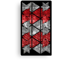 Red Triangle Stack Canvas Print