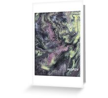 Iridescent Acrylic Pour Painting Greeting Card