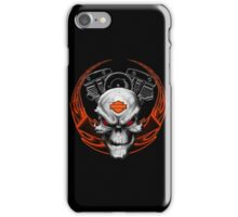 Orange Flames with Skull & Engine iPhone Case/Skin