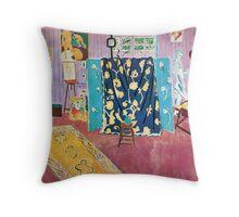 Henri Matisse - The Pink Studio Throw Pillow