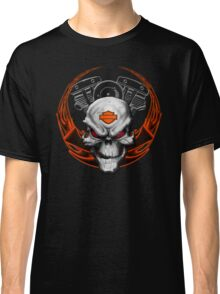 Orange Flames with Skull & Engine Classic T-Shirt