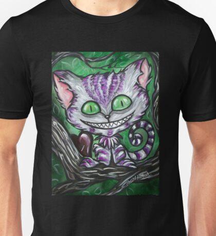 Sir Chester And His Dark Heart Cheshire Cat Unisex T-Shirt