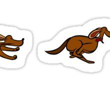 Dog Run sequential art Sticker
